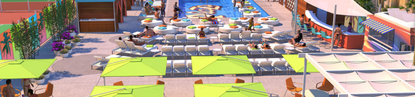 The Plaza - Pool Deck - Conceptual Rendering